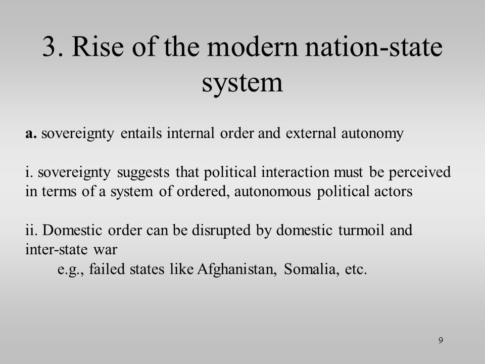 3. Rise of the modern nation-state system