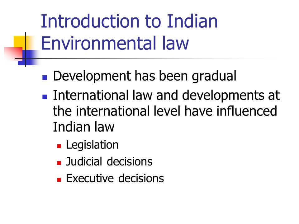 an introduction to the many types of laws for environmental protection International journal of environmental protection and policy types of environmental licensing: introduction in the late 1960s.