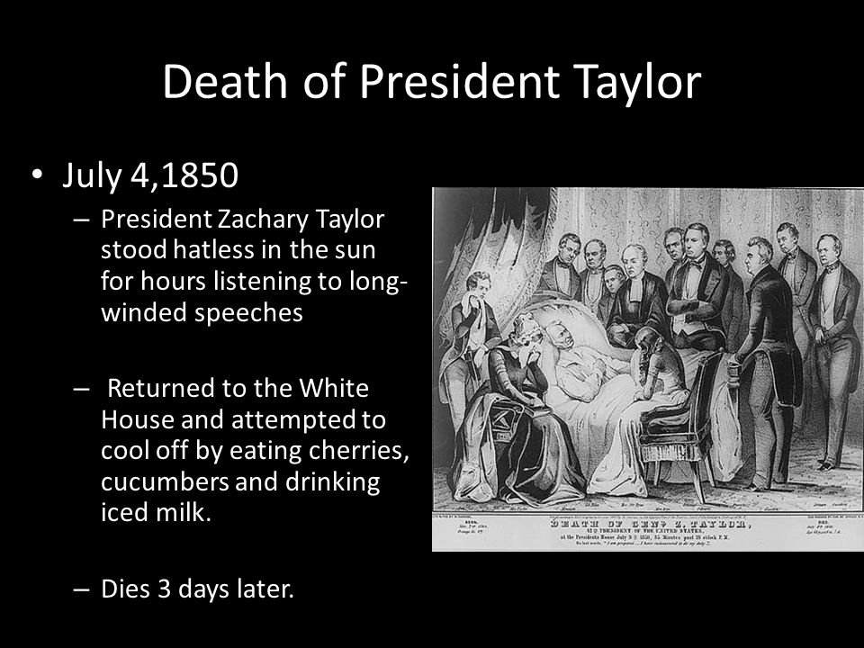 Death of President Taylor