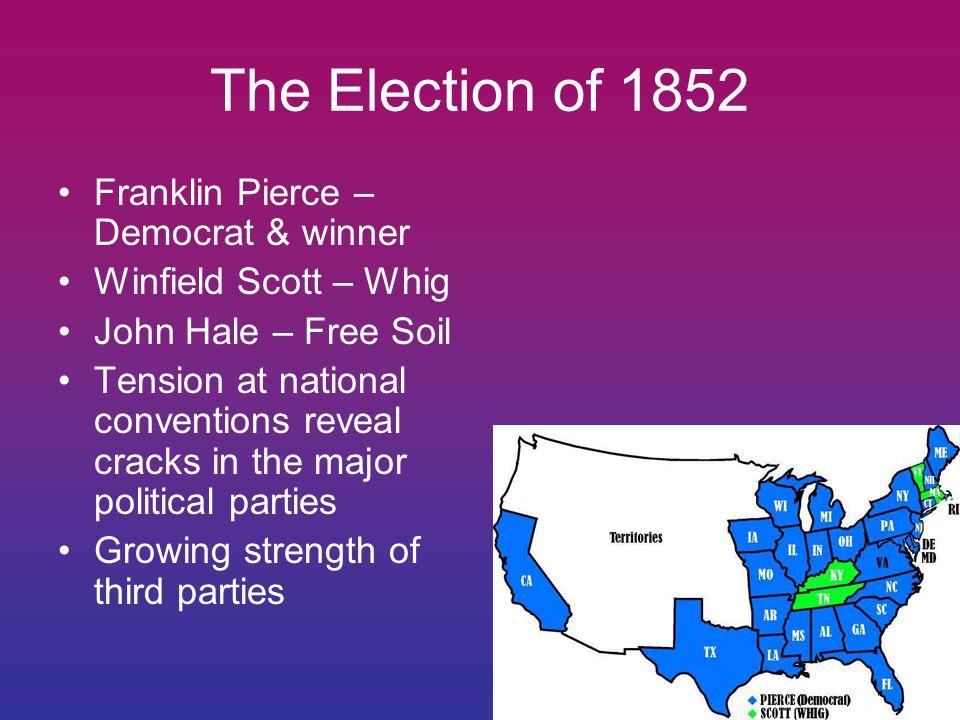 The Election of 1852 Franklin Pierce – Democrat & winner