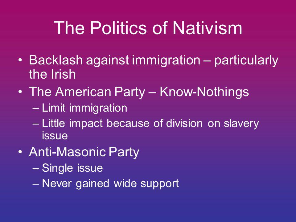 The Politics of Nativism