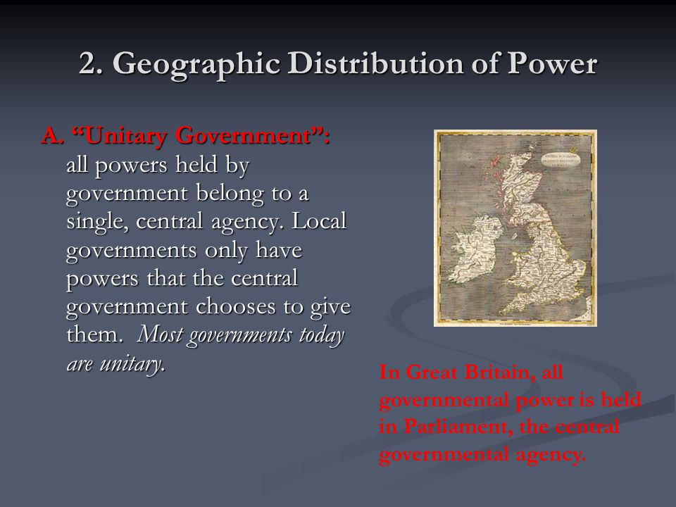 2. Geographic Distribution of Power