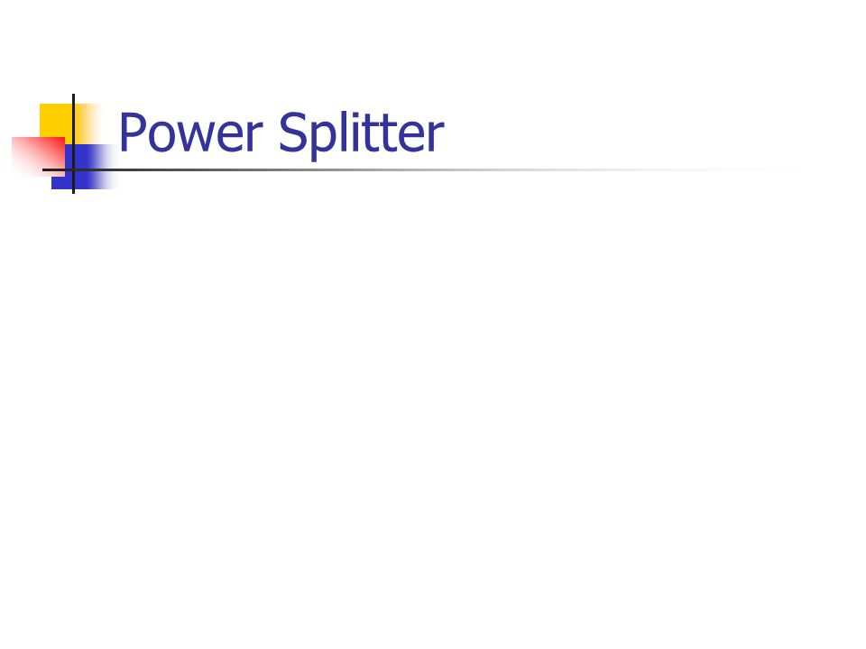 Power Splitter