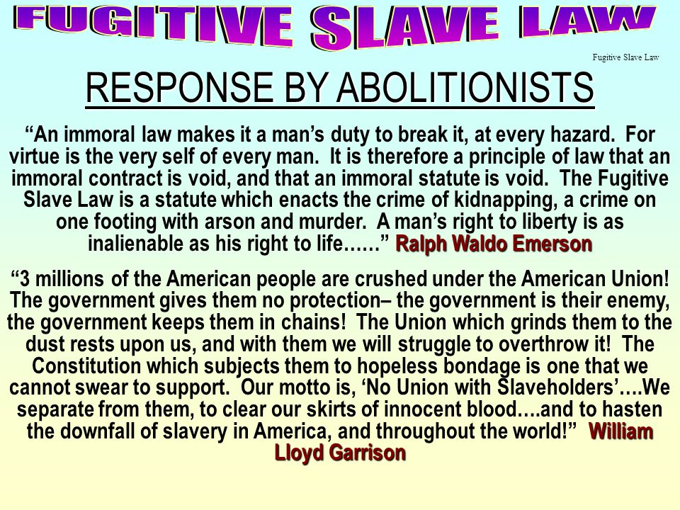 RESPONSE BY ABOLITIONISTS