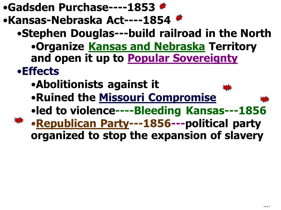 Kansas-Nebraska Act----1854