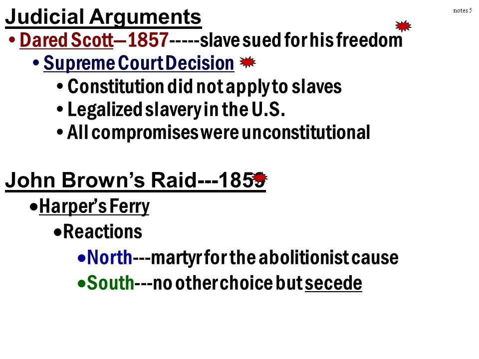 Dared Scott—1857-----slave sued for his freedom Supreme Court Decision