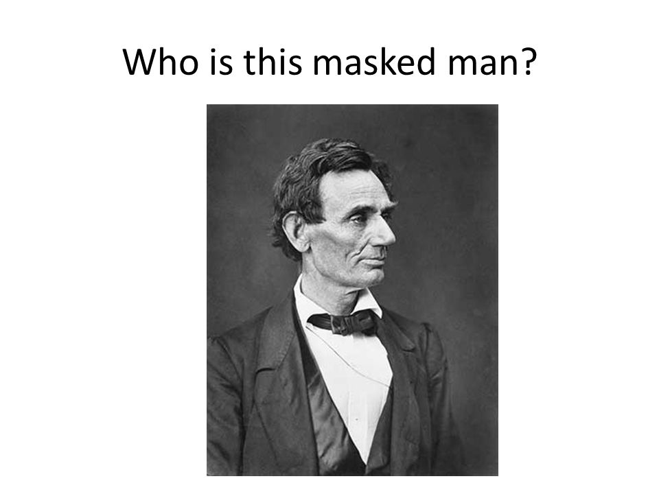 Who is this masked man