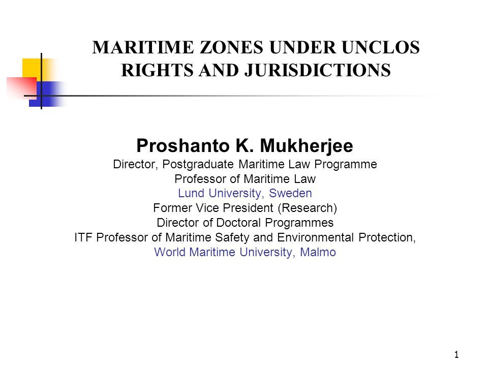 MARITIME ZONES UNDER UNCLOS RIGHTS AND JURISDICTIONS