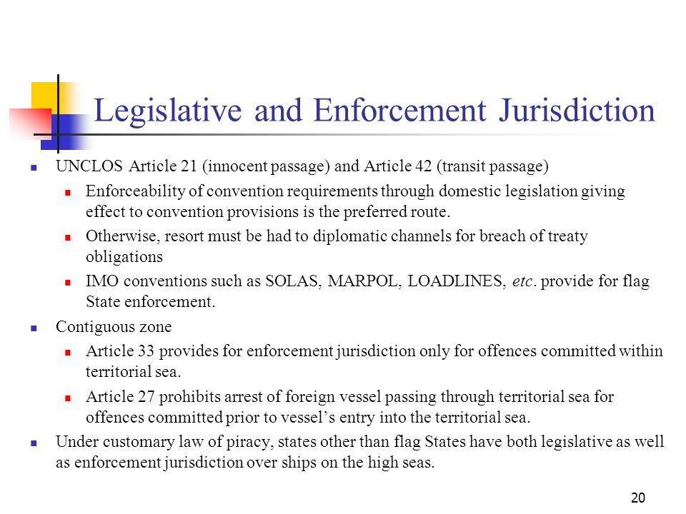 Legislative and Enforcement Jurisdiction