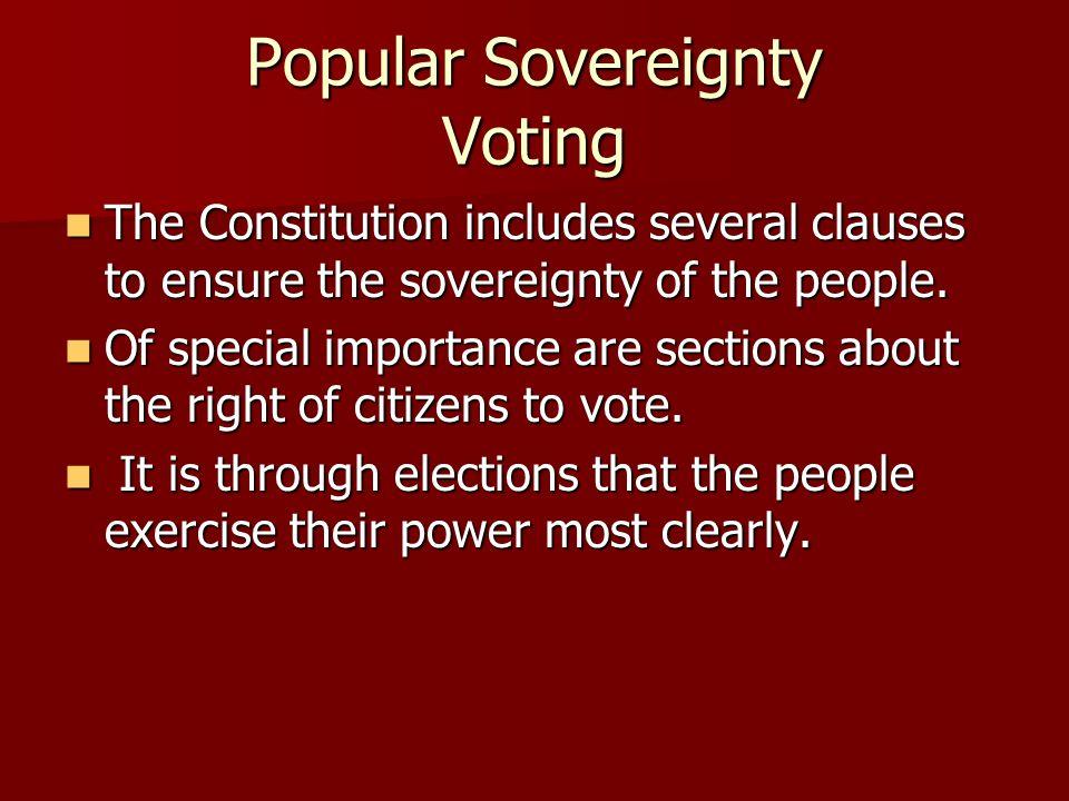 Popular Sovereignty Voting