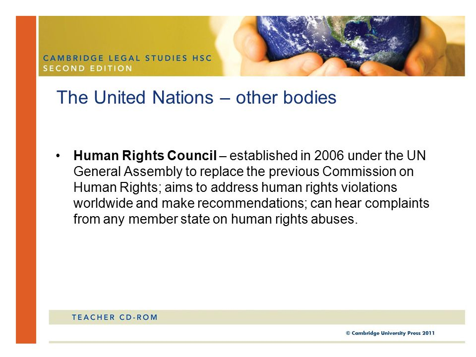 The United Nations – other bodies