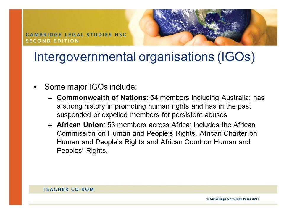 Intergovernmental organisations (IGOs)