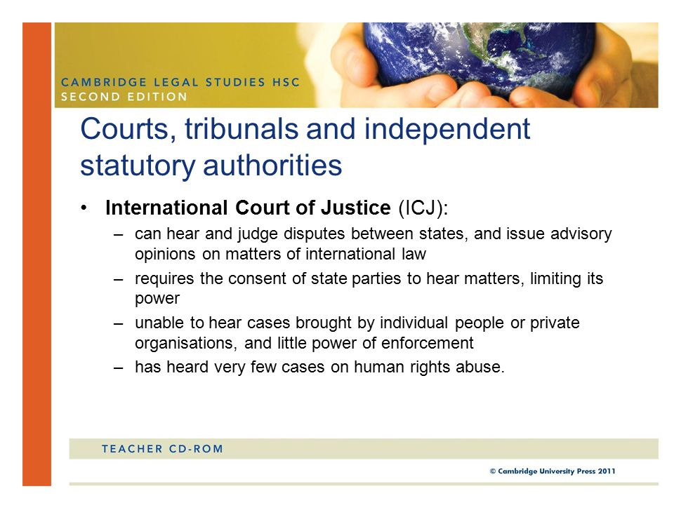Courts, tribunals and independent statutory authorities