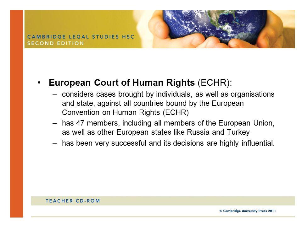European Court of Human Rights (ECHR):