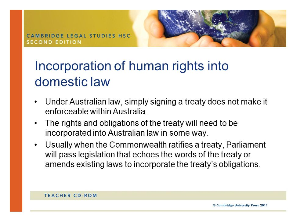 Incorporation of human rights into domestic law