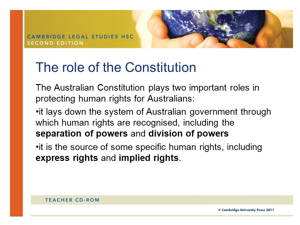 The role of the Constitution