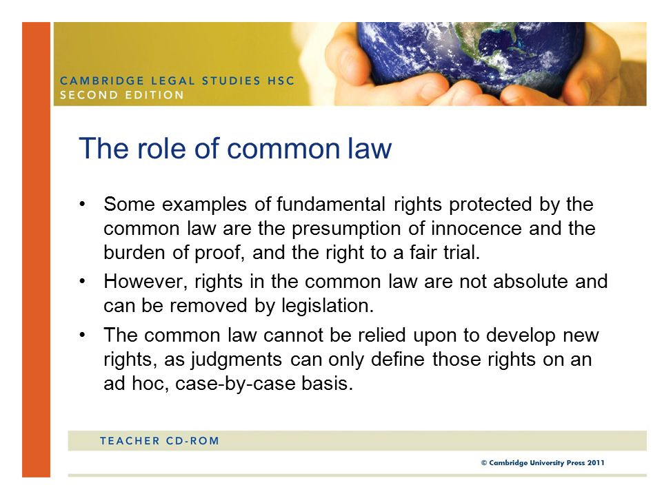 The role of common law