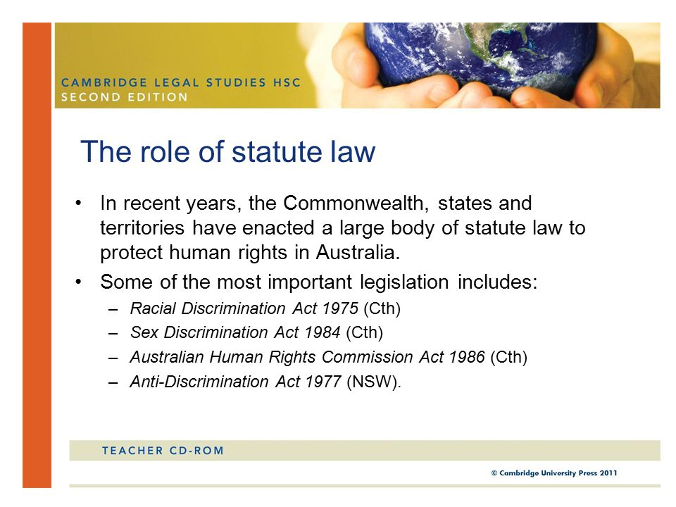 The role of statute law