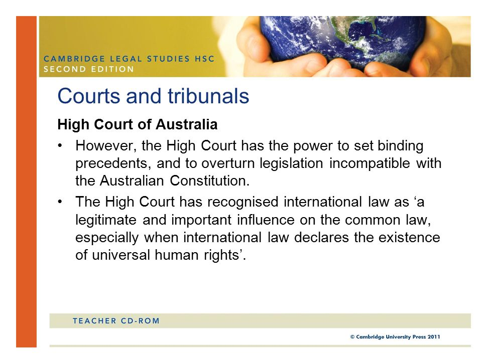 Courts and tribunals High Court of Australia