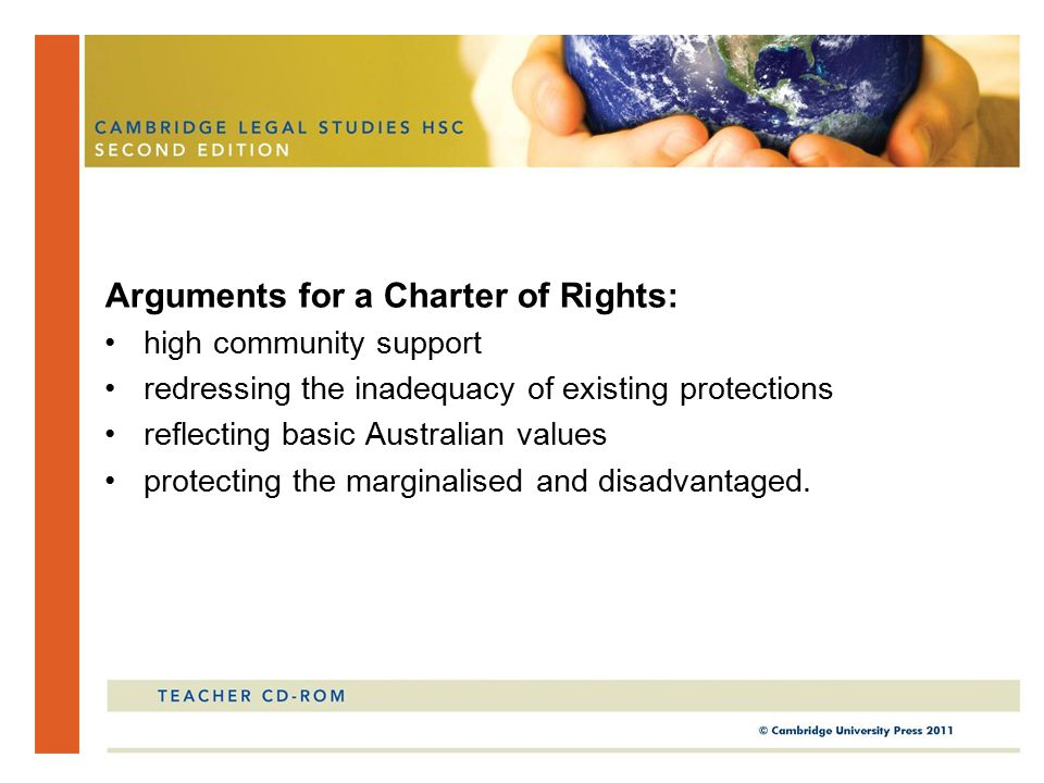 Arguments for a Charter of Rights: