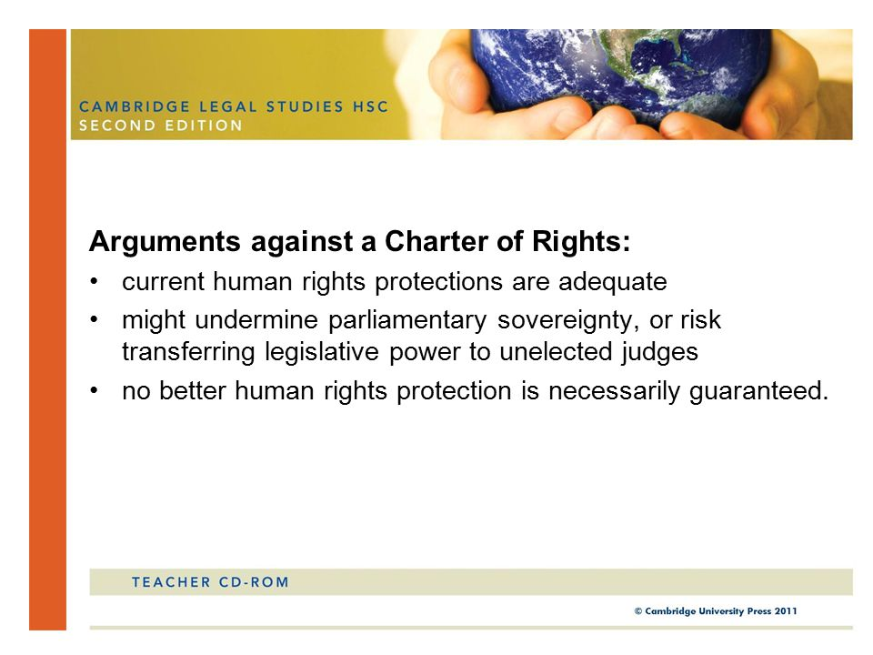 Arguments against a Charter of Rights:
