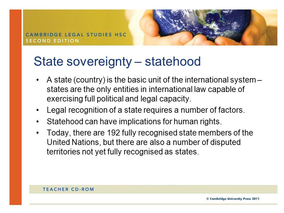 State sovereignty – statehood