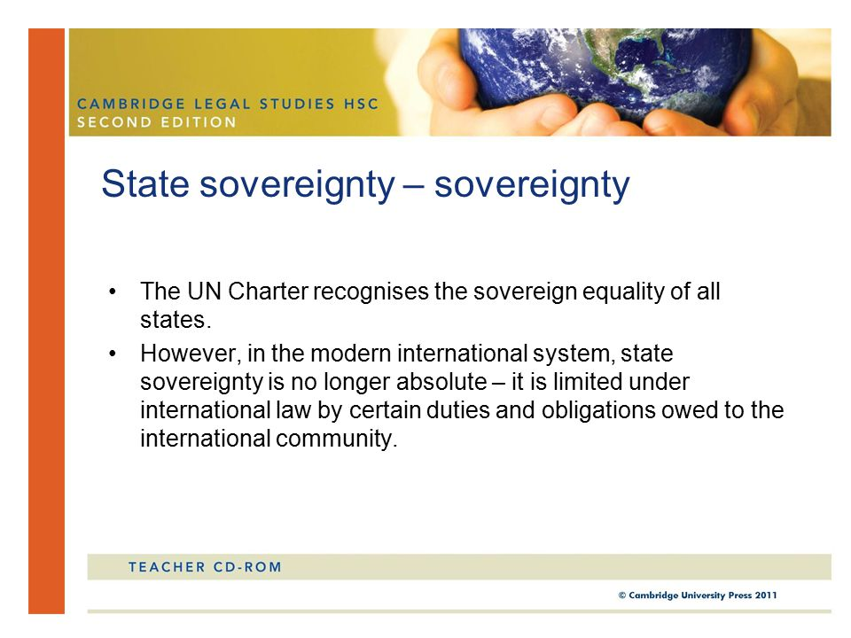State sovereignty – sovereignty