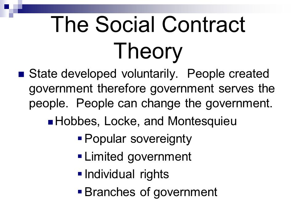 definition o fsocial contract state of
