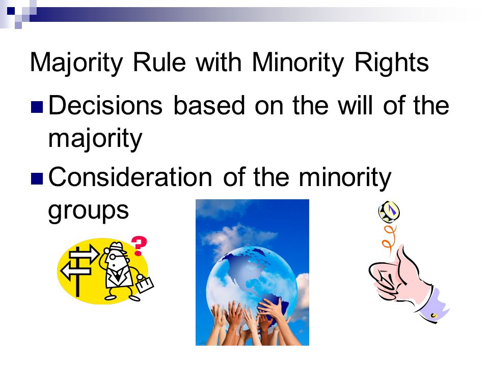Majority Rule with Minority Rights