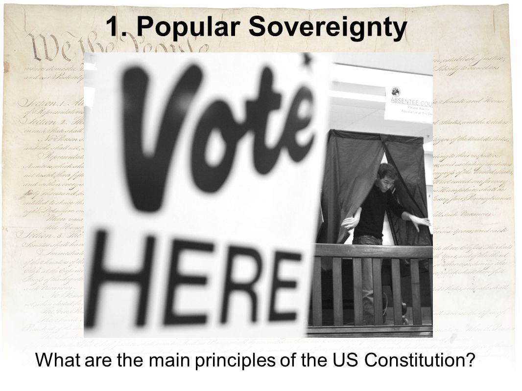 What are the main principles of the US Constitution