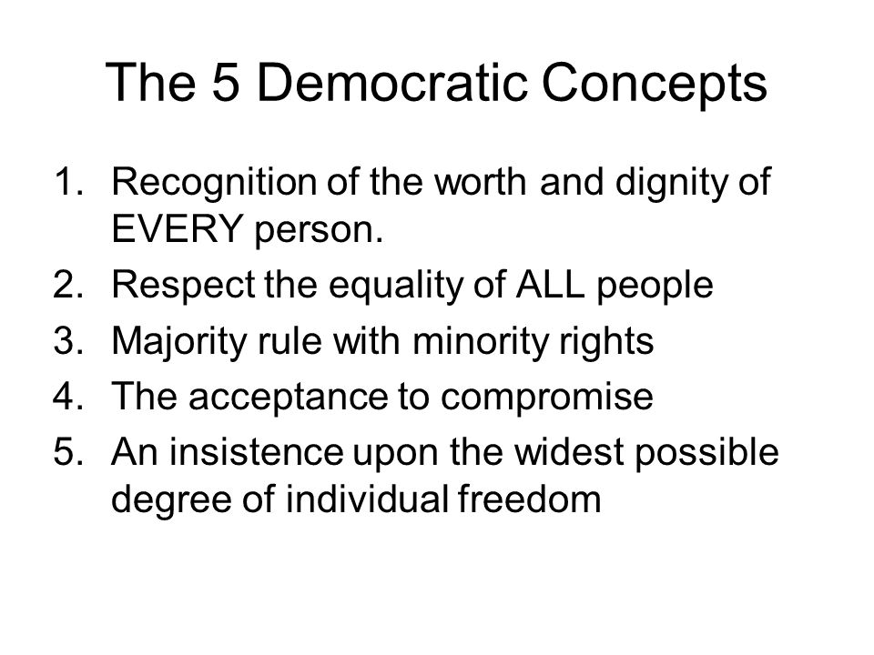 The 5 Democratic Concepts