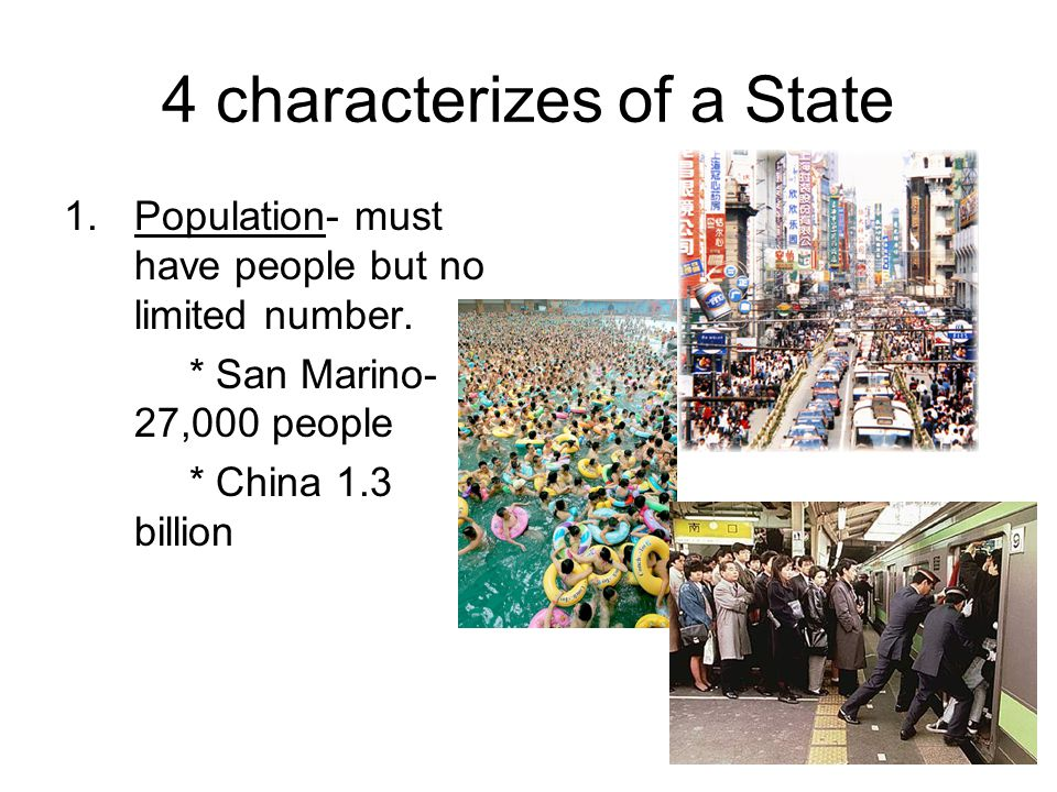 4 characterizes of a State