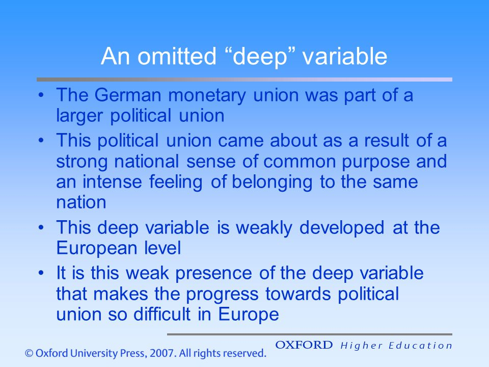 An omitted deep variable