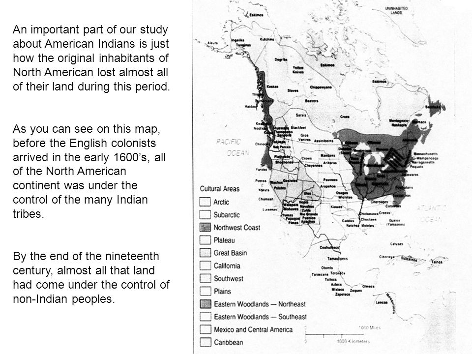 An important part of our study about American Indians is just how the original inhabitants of North American lost almost all of their land during this period.