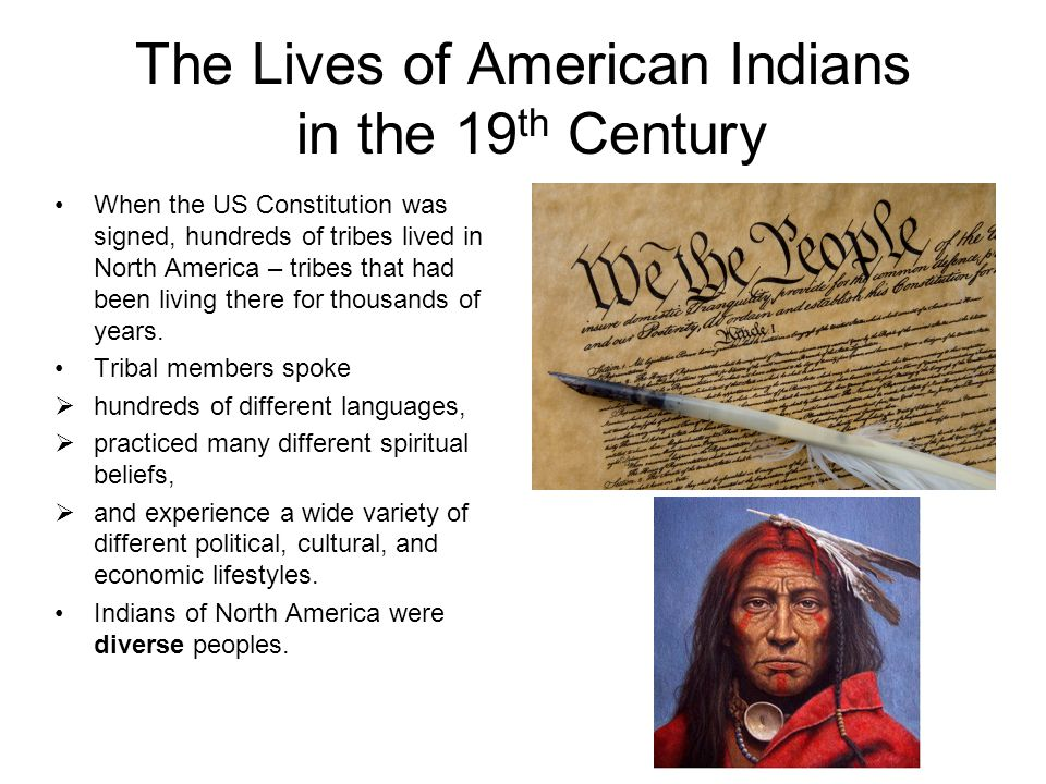 The Lives of American Indians in the 19th Century