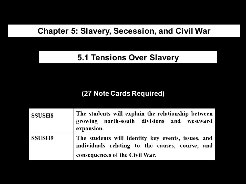 Chapter 5: Slavery, Secession, and Civil War