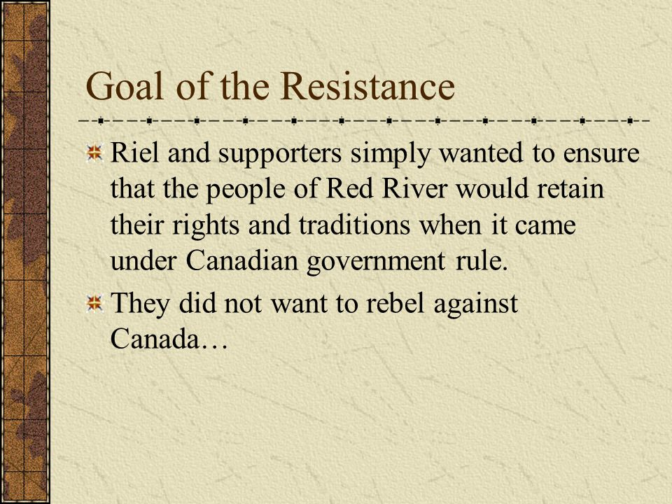Goal of the Resistance