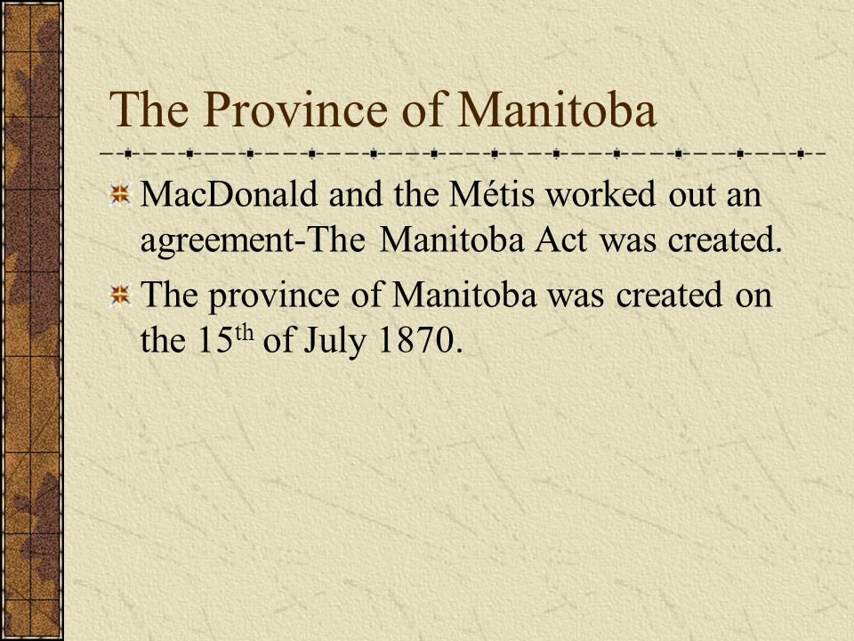The Province of Manitoba