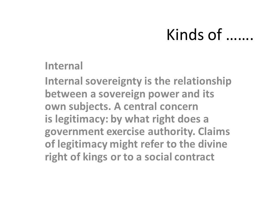 Kinds of ……. Internal.