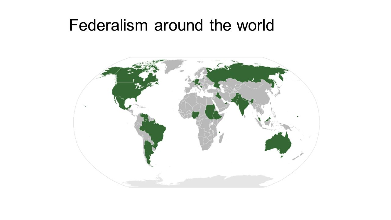Federalism around the world