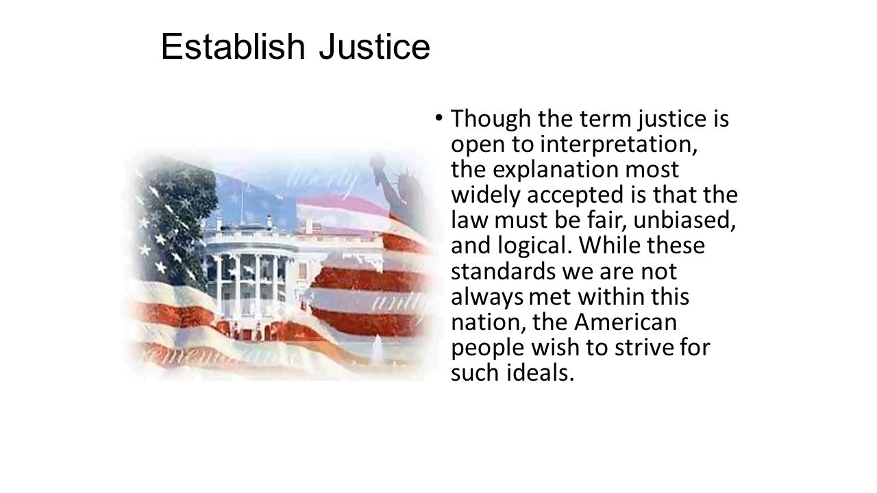 Establish Justice