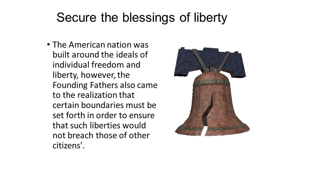 securing the blessing of liberty essay Securing the blessings of liberty a lesson for the liberty medal ceremony author: caren izzo haddonfield middle school, haddonfield, nj about this lesson.