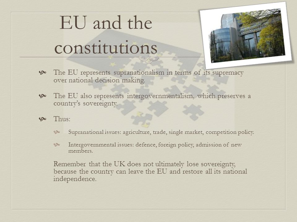 EU and the constitutions