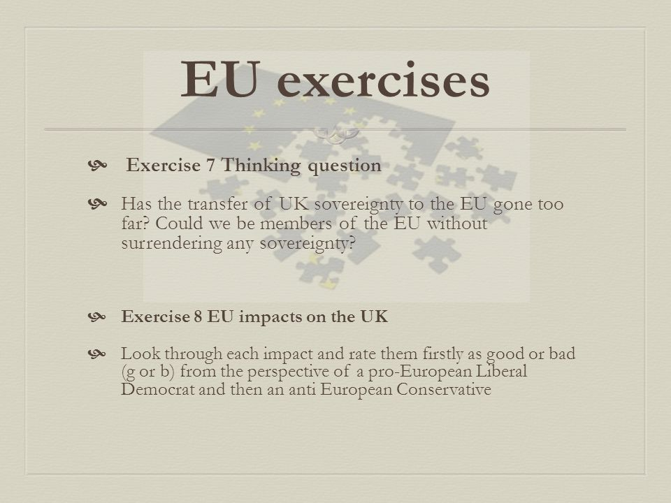 EU exercises Exercise 7 Thinking question