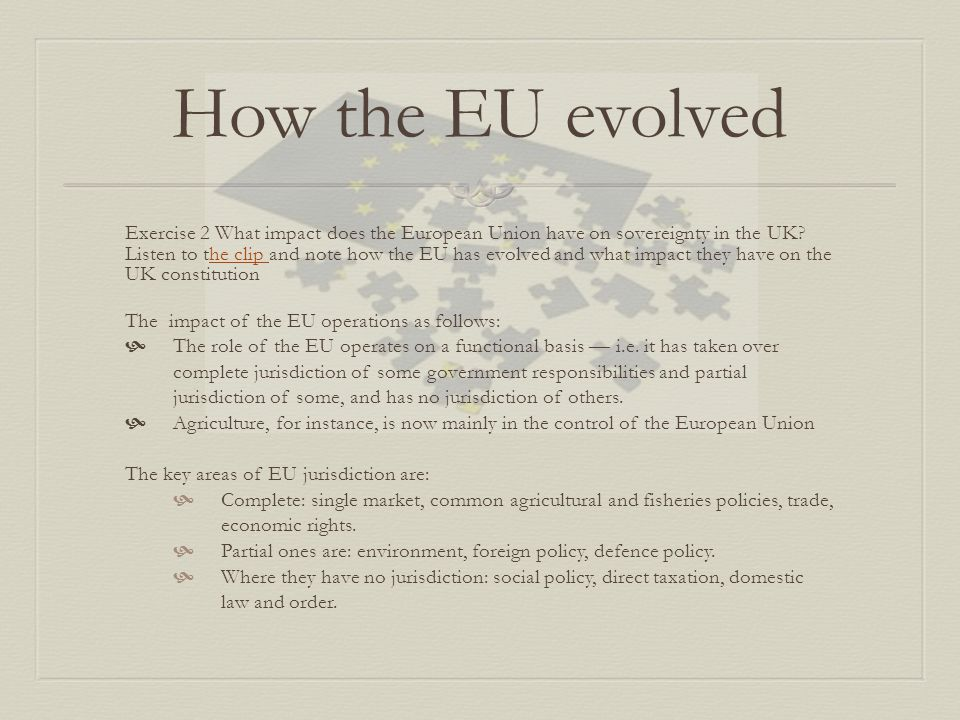 How the EU evolved