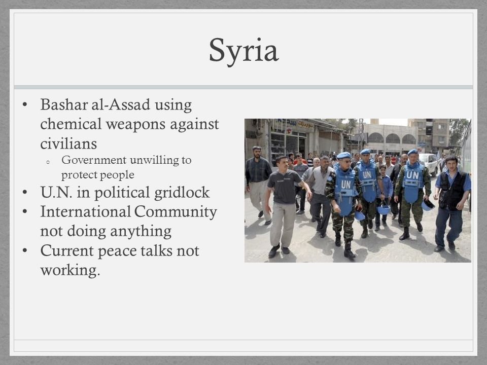 Syria Bashar al-Assad using chemical weapons against civilians
