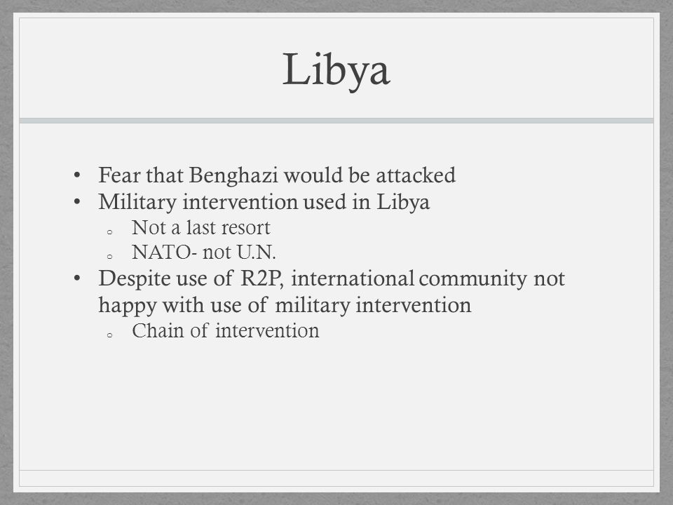 Libya Fear that Benghazi would be attacked