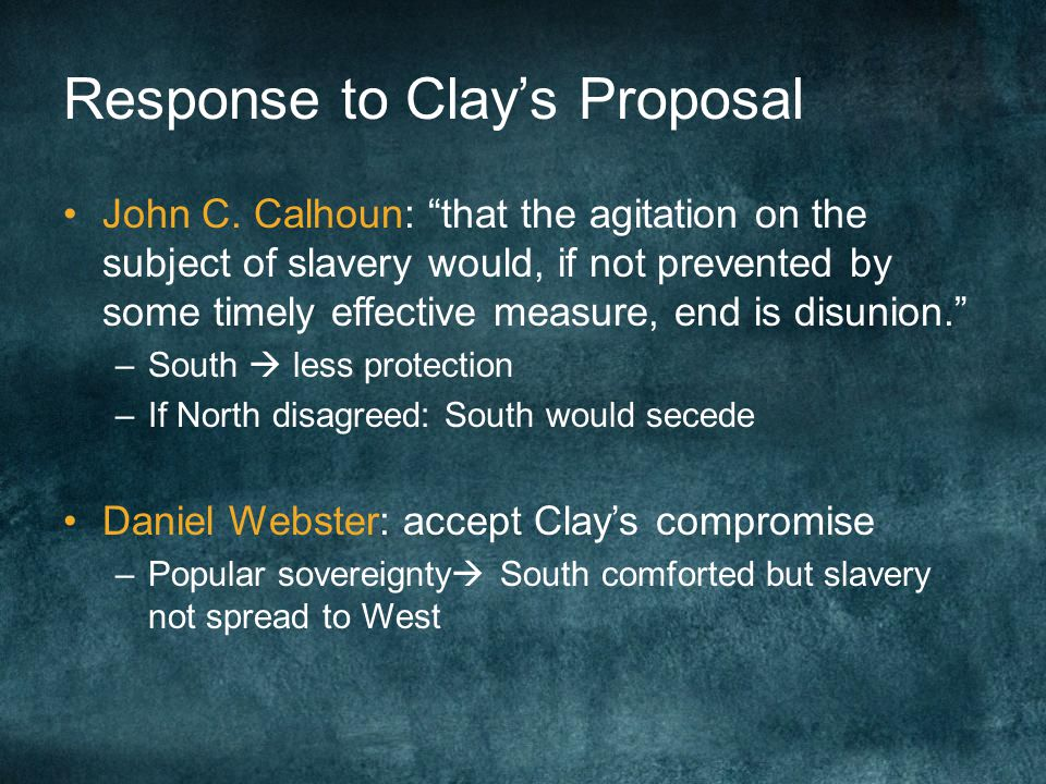 Response to Clay's Proposal