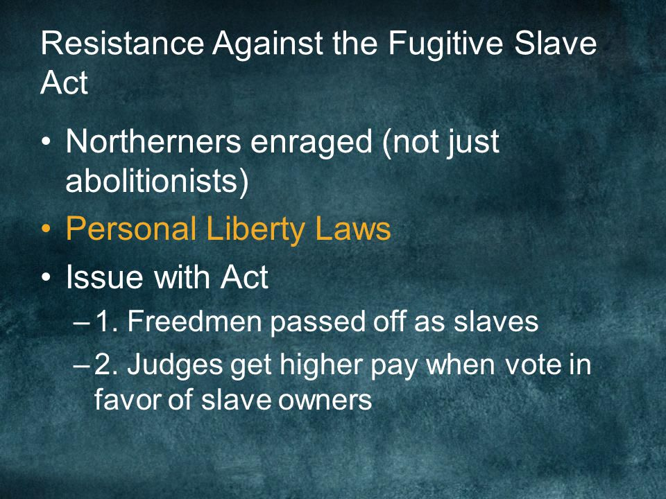 Resistance Against the Fugitive Slave Act