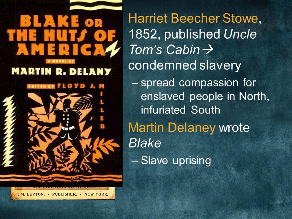 Stowe and Delaney Condemn Slavery